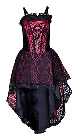Gothic Prom Dress Black / Red Victorian Halloween Wedding Dress