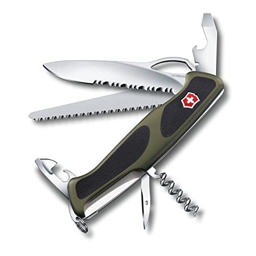 "41FHfGHXc%2BL. SS500  - Victorinox 0.9563 V09563.MWC4 Ranger Grip 179"" Pocket Knife, Green/Black, 130 mm"