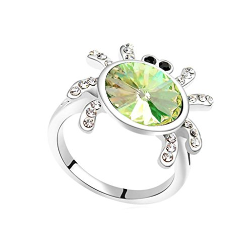 05 Einzelnes Licht (Daesar Schmuck Damenring Vergoldet Spinne Zirkonia Verlobungsring Strass Bridal Ring Größe:57 (18.1))