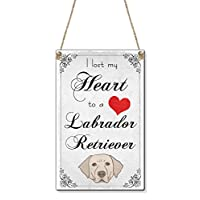 Beenanas Lost My Heart To A Labrador Retriever Dog (Card Size) Cute Mini Sign Plaque