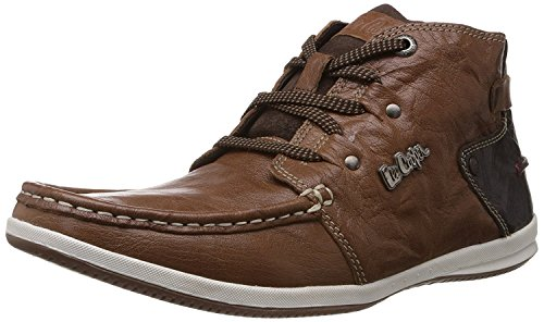 Lee Cooper Tan Leather Boat Shoes