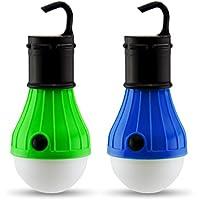 Paquete de 2 Piezas Luces para Acampar | Bombillas de Luz LED Colgantes para Acampar y Campismo | Luces Colgantes de Exterior de Baterias| Linternas de Luz LED Regulable para Acampar de Astorn