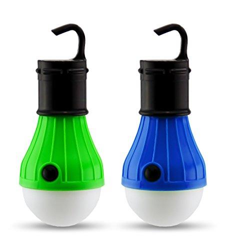 2 Stk. Camping Lichter | Tragbare LED Glühbirnen-Vorrichtung zum Zelten & Rucksackurlaub | Batteriebetriebene Aufhängelichter für draußen | Dimmbare LED Glühbirnen/Laternenlichter zum Zelten, von Astorn (Notfall-vorrichtung)