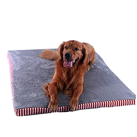 Autumn and Winter Red Pet Pad Anti-Bite Non-Stick Hair Can Be Removable and Washable Large Dog Cushion Red