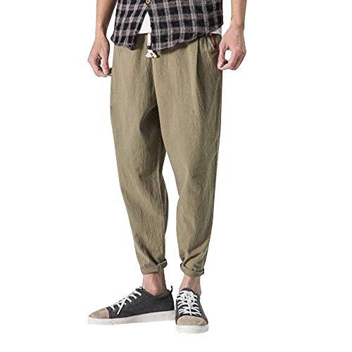 Pantalones De Los Hombres De Boxeo Gimnasio Pantalones De Ocio Acolchado De Algodón Pantalones Casuales De Ajuste Holgado Pantalones De Chándal Pantalones Largos Pantalones Elásticos