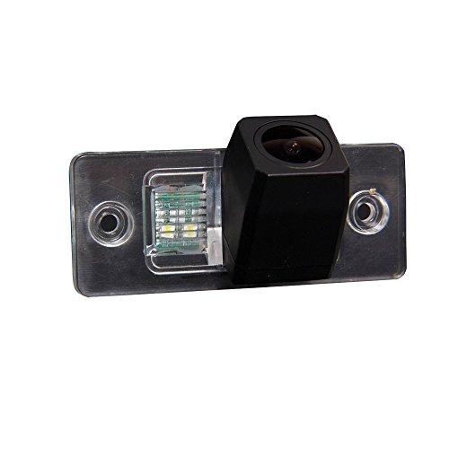 Kalakass HD CCD Rückfahrkamera Nummernschild Kennzeichen Einparkhilfe Nachtsicht für VW Touareg Golf V Skoda Fabia Passat B5 Tiguan Polo Santana
