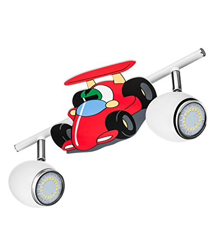 BRITOP LIGHTING Kinderspotleuchte Modell Car Schienenleuchte 2 Spots, inklusive 2x GU10, 4,5 W, LED Metall 2206202