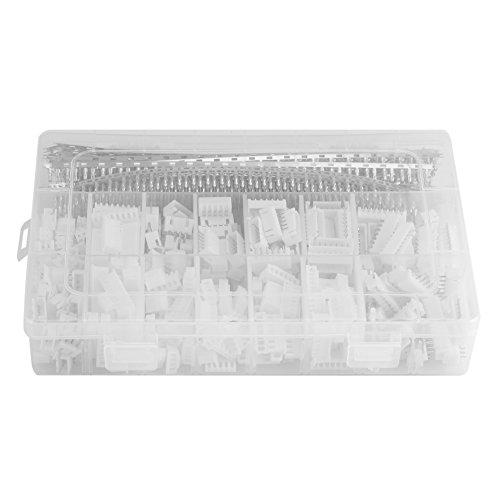 Zerodis 1220pcs/Set 2,54mm Jumper Wire Kabel Gehäuse Terminal-Anschluss-Kit für Dupont mit Kunststoff Box