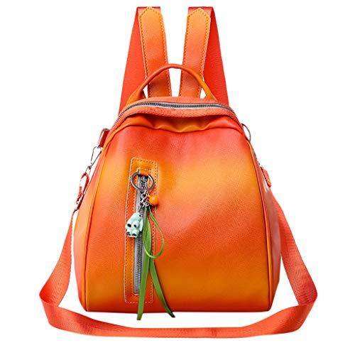 Ledertasche, Schultertasche, Geschenk, Handgefertigte Tasche,Damenmode Rucksack große Kapazität Computer Tasche Umhängetasche Farbe Handtasche ()