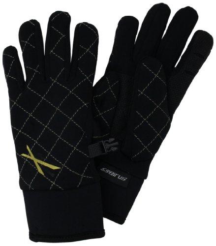 Seirus Isolierte Handschuhe (Seirus Innovation 1438 Damen Xtreme Allwetter-Handschuhe, gesteppt, formfest, wasserdicht, Damen, 1438, schwarz/goldfarben, Large)