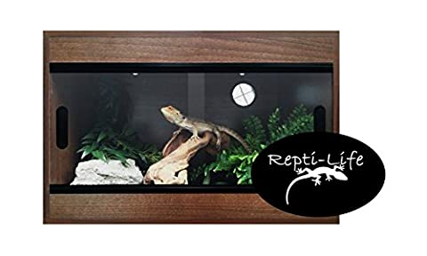 36x15x15 Inch Vivarium Flatpacked In Walnut, 3ft Viv By Repti-life