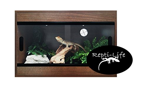 Repti-Life 24x15x15 Inch Vivarium Flatpacked In Walnut, 2ft Viv
