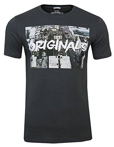 JACK & JONES -  T-shirt - Maniche corte  - Uomo Schwarz ( asphalt / Slim Fit ) S