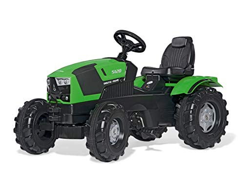 Rolly Toys rollyFarmtrac Deutz-Fahr 5120 (für Kinder im Alter von 3 - 8 Jahre, Sitz verstellbar, Flüsterlaufreifen) 601240