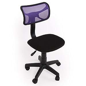 Chaise /siège de bureau N30, pr enfant, tissu, pivotante, violet