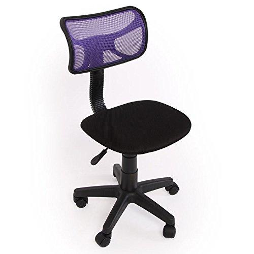 Kinder- und Jugend-Bürostuhl Schreibtischstuhl N30 Netzstruktur ~ lila