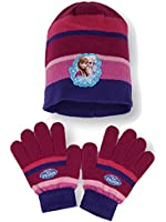 Official Girls Frozen Gloves , Beanie Hat & Scarf Set Age 4-10 Years