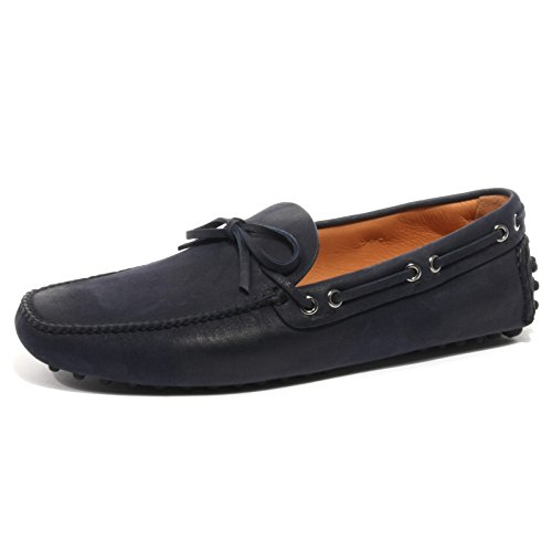 B2366 mocassino uomo CAR SHOE KUD scarpa blu loafer shoe man Blu