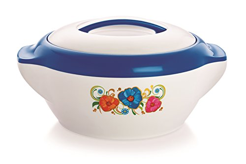 Casserole 1000, Pearl Rolex, 1 Liters Casserole Hot Pot, Insulated Serving Hot Pot with Inner, Stainless Steel Casserole, (Rolex1500 Blue)  available at amazon for Rs.259