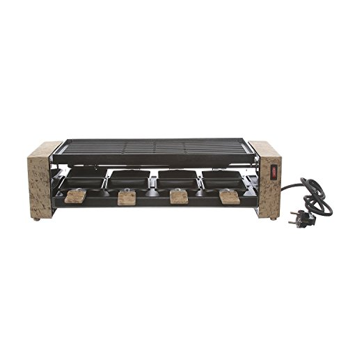 Raclette 2 in 1 con piastra antiaderente
