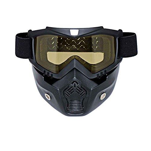 Jugend-snowboard-paket (Republe Motorrad abnehmbare Gesichtsmaske Brille Radfahren Bike Skibrille windundurchlässiges Motorrad Gesichts-Schutz Snowboard Brillen)