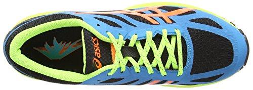 Asics Gel-Fujipro, Scarpe sportive, Uomo Onyx/Flash Orange/Atomic Blue 9930
