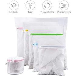 Fansteck Sacs en Tissu pour la lessive, Sac de Lavage pour protéger des vêtements Doux - Paquet de 6 réutilisation, Filet Machine à Laver résistant pour Soutiens, sous, Culottes, Soie, Baskets, etc.