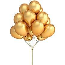 Casa Kitty 100unidades 12pulgadas de color Dorado Decoración para Fiesta de Látex Globos de fiesta–y accesorios