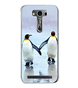Penguins on Beach 2D Hard Polycarbonate Designer Back Case Cover for Asus Zenfone 2 Laser ZE500KL (5 INCHES)