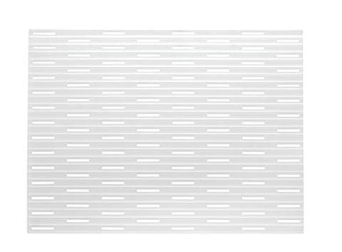 mDesign bac d'évier de silicone - Couleur: transparent - tapis de protection pour la cuisine et salle de bains – dépôt pour votre évier - Taille: 40.6cm x