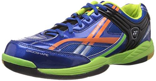Yonex Exceed Plus 505 Pro Badminton Shoes, UK 8 (Blue/Orange)