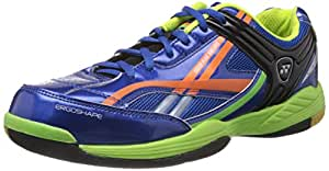Yonex Exceed Plus 505 Pro Badminton Shoes, UK 6 (Blue/Orange)
