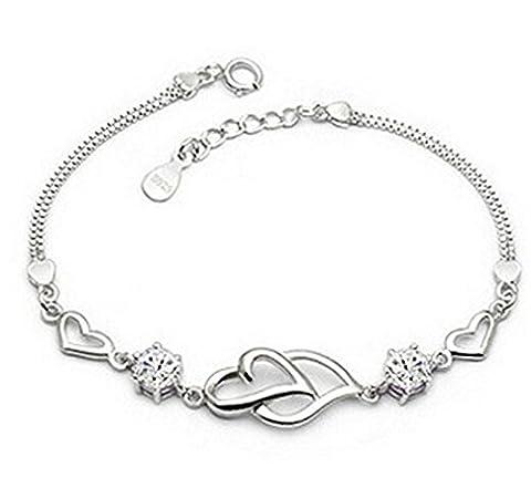 Pour Femmes et Filles Bracelet charms 925 Argent sterling et