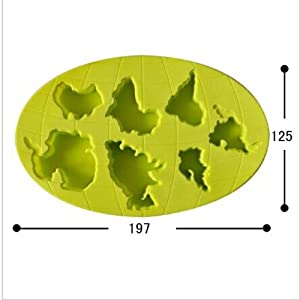 joyliveCY zufällige Farbe Kontinente kompatibel mitm Silikon kompatibel mitm Kochen Tools Cookie Cutter Ice kompatibel mitmen Eiswürfelschale Eis Werkzeuge Eiswürfelkompatibel mitm, Silikon Werkzeug