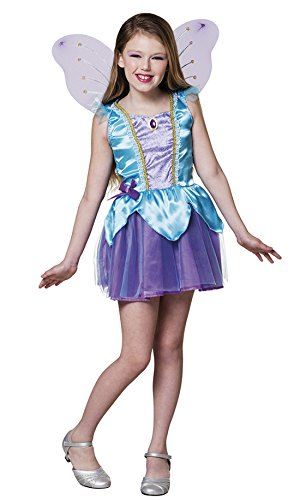 Karnevalsbud - Mädchen Feen Kostüm, Karneval, Fasching, Mehrfarbig, Größe 140-152, 10-12 Jahre (Disney Feen Halloween Kostüme)