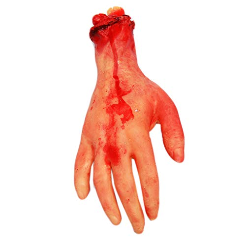 Ruda Halloween Dekoration Spielzeug Horror blutige Hand Bein Gebrochenes Gummi Spukhaus Party Requisiten Home – Perfekt für Halloween-Partys April Narren Day Performance ()