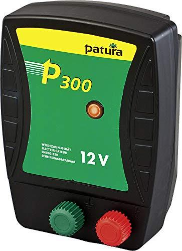Patura Weidezaungerät P300-12 Volt - Schafe, Ziegen, Rinder, Pferde, Rehwildwild, Teichschutz - Kurze bis mittlere Zäune - mit Tiefentladeschutz