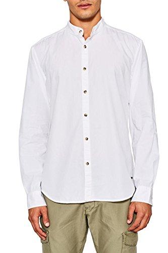 Edc by esprit 087cc2f010 camicia, bianco (white 100), x-large uomo