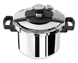 Tefal Clipso Easy Pressure Cooker, Stainless Steel, 6 Litre