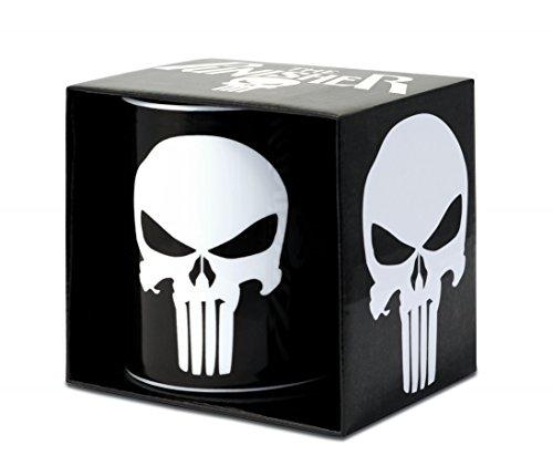 Punisher Mug De Café - Marvel Comics Mug - Antihéros Mug À Thé - Noir - Présenté dans Un Coffret Cadeau - Design Original sous Licence - Logoshirt