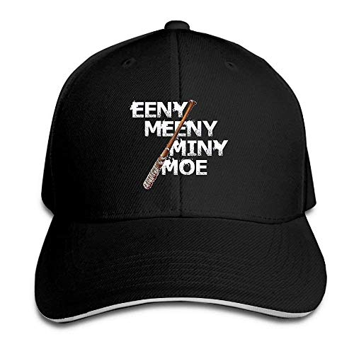 Men & Women Dyed Cotton Adjustable Plain Baseball Cap Eeny Meeny Miny Moe Negan Lucille Zombie Trucker Hat Satin Wool Cap