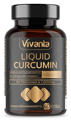 Liquid Curcumin - 60 Kapseln | flüssiger Kurkuma mit 185x Bioverfügbarkeit | 500mg NovaSOL pro Kapsel
