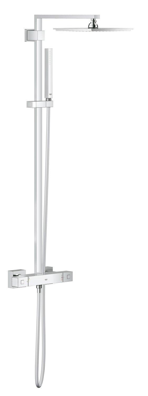 GROHE Euphoria System – Système de Douche Rectangulaire avec Thermostat Carré 230mm Réf. 26087000