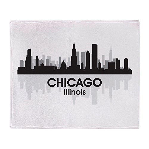 CafePress-Chicago Skyline-weicher Fleece Überwurf Decke, 127x 152,4cm Stadion Decke Illinois Fleece Throw Blanket
