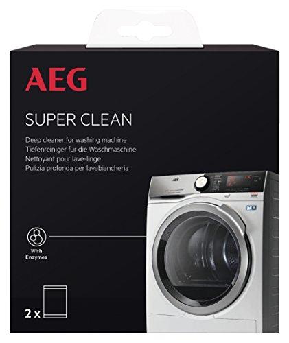 AEG A6WMR101 Super-Clean Kit / Herstellernummer: 9029797090 / Tiefenreiniger für Waschmaschinen / Waschmaschinen Zubehör / 2x Beutel (je 50g) / Entfernt Ablagerungen und Schmutzpartikel