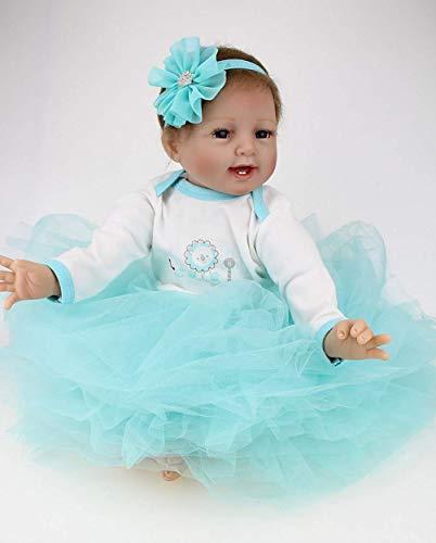 """Reborn Doll 22 \""""55 cm Hechos a Mano Hechos a Mano bebé recién Nacido muñeca renace muñeca Suave Silicona Vinilo muñeca, Hermoso Regalo de los niños"""