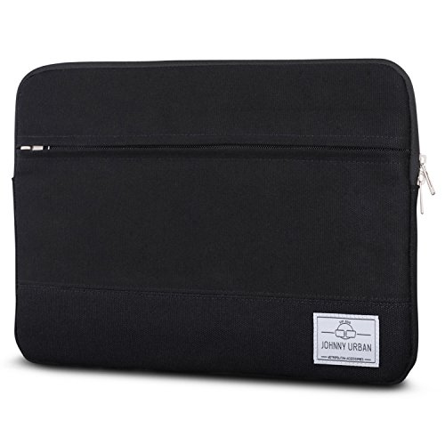 "Laptophülle 13 - 13.3 Zoll Schwarz - Johnny Urban Canvas Laptop Sleeve Laptoptasche Hülle für MacBook Air 13"" & Pro 13"" Surf..."
