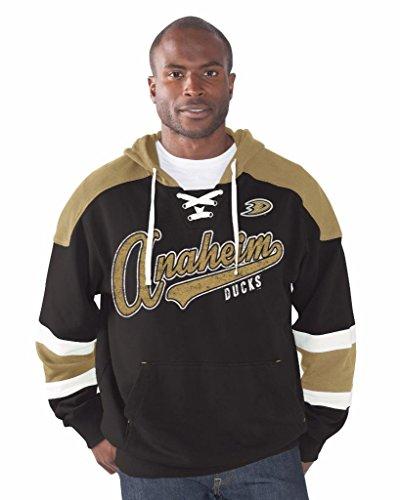 Damen Hockey Jersey (NHL Herren Power Play Pullover French Terry Hoodie G-III, Damen Mädchen Jungen Herren, schwarz, Large)