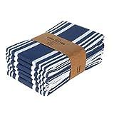 Trendiga ränder Kitchen Towels (Set of 6) Blå/vit