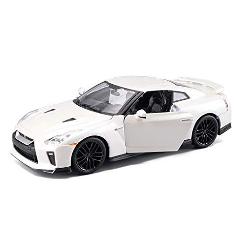 JLBao Nissan GTR r35 ares 1:24 Legierung automodell Auto Spielzeug Modell statische Modell Sammlung Ornamente Geschenk schmuck (Farbe: weiß)